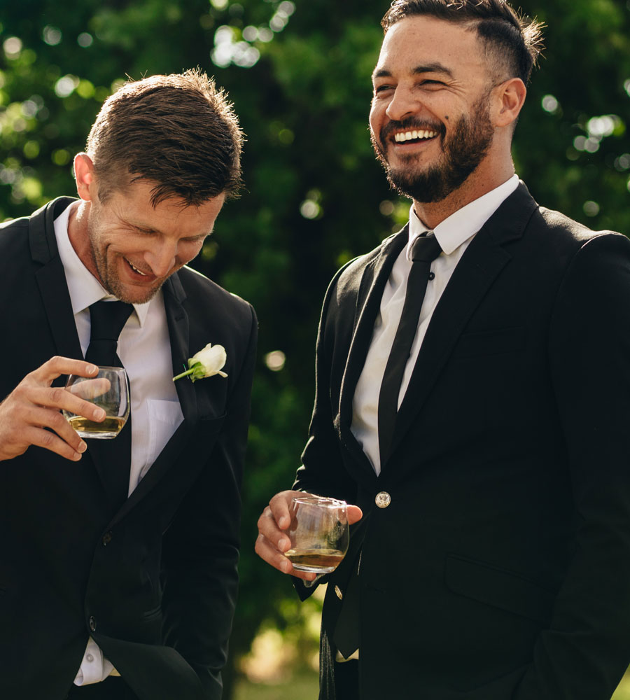 Two Guys At Reception